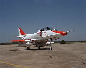 Last TA-4J refurbished at NAS Pensacola 1991.JPEG