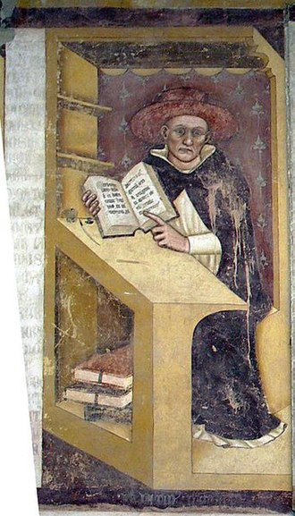Pontifical University of Saint Thomas Aquinas - Latino Malabranca Orsini by Tommaso da Modena, 1352