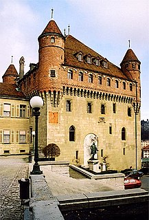 castle in the centre of Lausanne, Switzerland