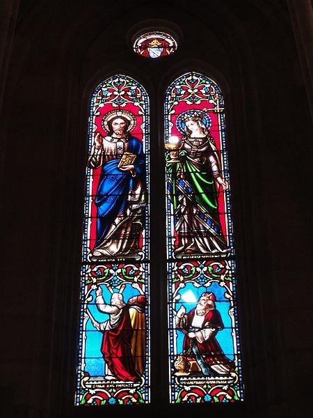 Le Barp (Gironde) église, vitrail 03