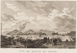 Jean Abraham Grill - Macao harbour, 1787