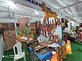 Leather puppet gallery at handloom show Vijayawada oct 2019 7.jpg
