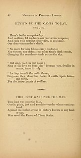 Hushd Be the Camps To-Day Poem by Walt Whitman about the assassination of Abraham Lincoln