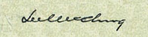 "1890 College Football All-America Team - ""Bum"" McClung's signature as used on U.S. currency"