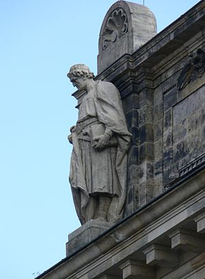 Eike of Repgow - Statue of Eike of Repgow at the former Reichsgericht building in Leipzig