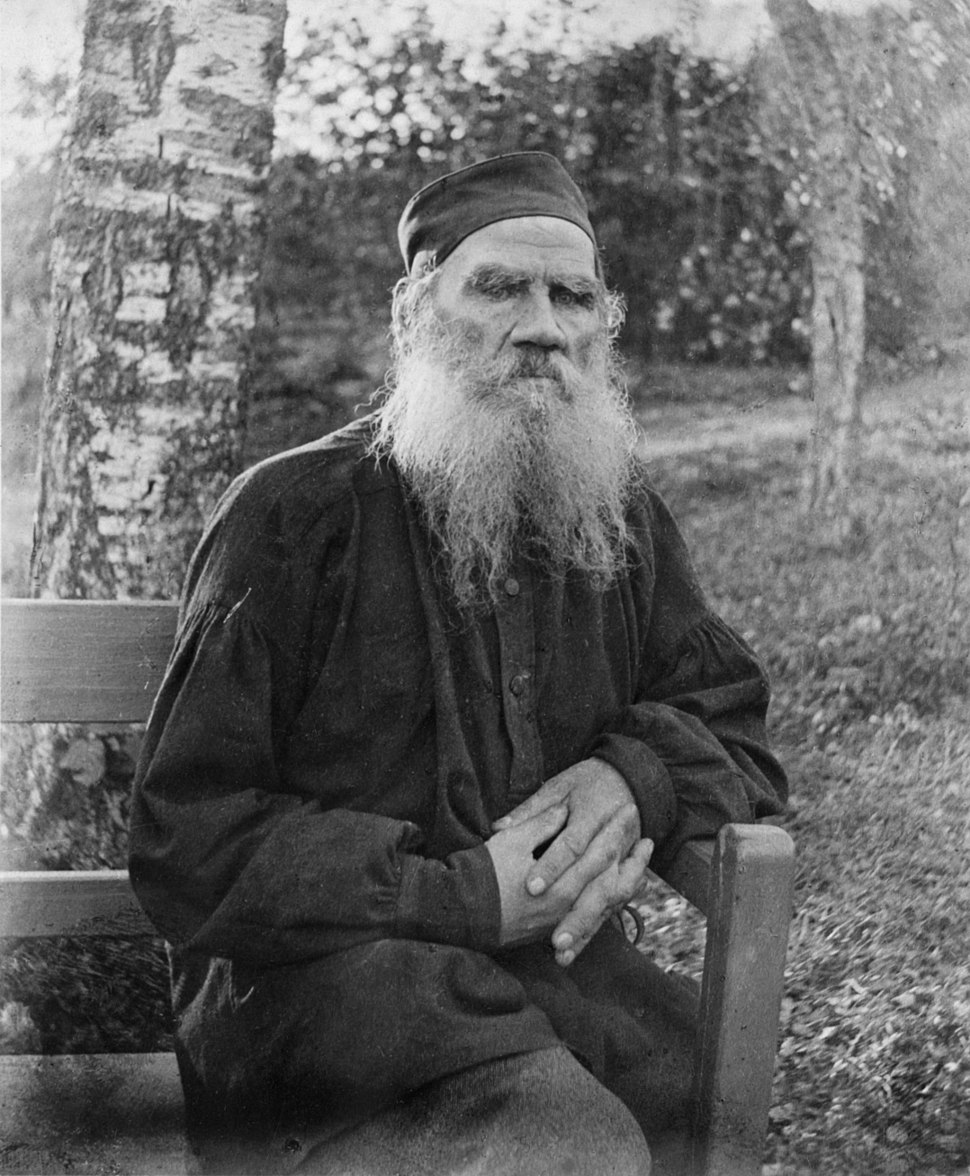 Leo Tolstoy 1897, black and white, 37767u