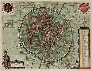 Siege of Leuven - Map of Leuven in 1649 by Joan Blaeu.