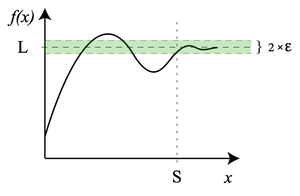 The limit of this function at infinity exists.