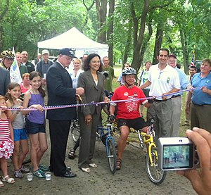 Lincoln Park (Jersey City) - Ceremonial opening of East Coast Greenway segment in the park