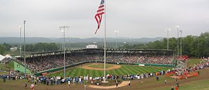 Little League Baseball - A Little League World Series game in Howard J. Lamade Stadium in South Williamsport.