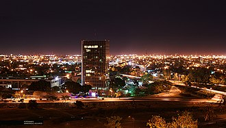 Ciudad Victoria - Night view of Ciudad Victoria City Centre