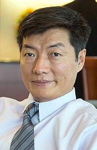 Lobsang Sangay, Tibetan Prime Minister (cropped).jpg