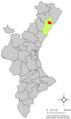 Localització de Vilanova d'Alcolea respecte del País Valencià.png