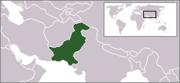 Localización de Pakistán