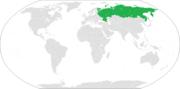 Localización de Rusia