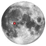 Location of lunar crater stadius