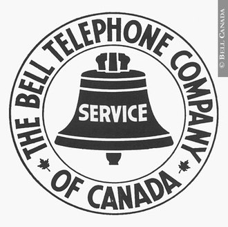 Bell Canada - The Bell Telephone Company of Canada logo with maple leaves, 1922–1940