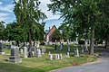 Looking E across section D at chapel - Glenwood Cemetery - 2014-09-14.jpg