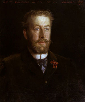 Lord Ronald Gower - Portrait of Lord Ronald Gower by Henry Scott Tuke, 1897