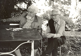 With Nikolaas Tinbergen (right), 1978