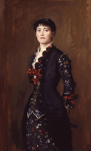 Louise Jopling - Portrait of Louise Jopling  by John Everett Millais