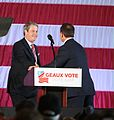 Louisiana Attorney General, Jeff Landry, welcoming Senator David Vitter, LAGOP GOTVR Dec2016 148 (31439745332).jpg