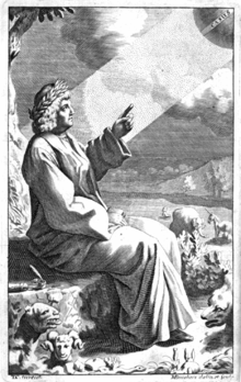 Engraving of the Roman poet and philosopher Lucretius