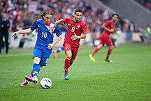 Luka Modric (L), João Moutinho (R) - Croatia vs. Portugal, 10th June 2013 (2).jpg