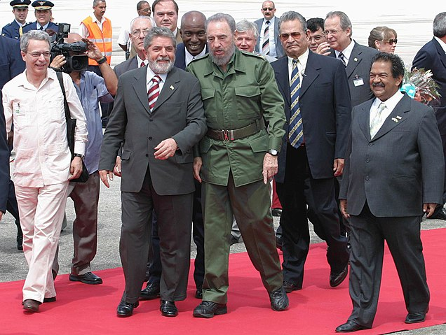 Фидель Кастро и Лула да Силва, 2003 год