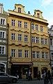 Měšťanský dům U černého beránka, U zlatého koníčka (Malá Strana), Praha 1, Mostecká 50 a 51, Malá Strana.JPG