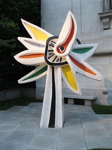 Ф. Леже. Большой подсолнух, 1952Полихромная скульптура (крашенная бронза). Высота 354см.Музей изящных искусств, Монреаль, Канада