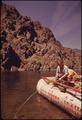 MEMBERS OF SNAKE RIVER RAFT TRIP CATCH SMALLMOUTH BASS IN HELLS CANYON - NARA - 549443.tif