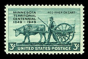 Elizabeth Hickok Robbins Stone - Minnesota Territory Centennial U.S. postage stamp