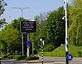 Maastricht - Akersteenweg - maxtrixbord met coronawaarschuwing 20200425.jpg