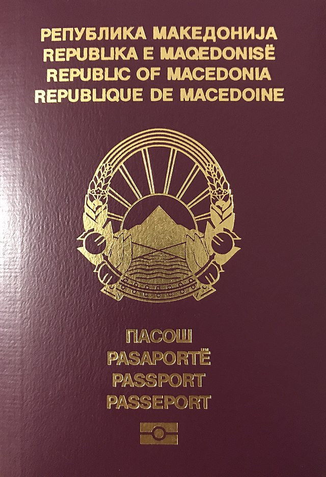 Macedonian Passport Wikiwand
