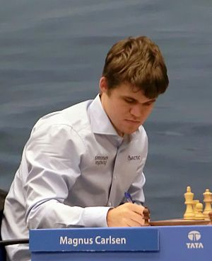 World Chess Championship 2014 - Image: Magnus Carlsen 13a