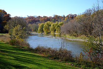Baby Point - The Humber River at Magwood Park, a park that surrounds the northwest portions of Baby Point