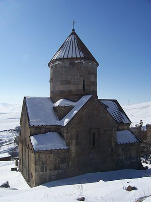Makravank Monastery - S. Astvatsatsin Church during winter