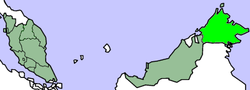 Location of Borneo Utara