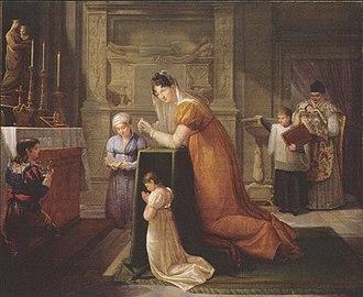 Matilde Malenchini - Alexandrine de Bleschamp in the Church at Canino