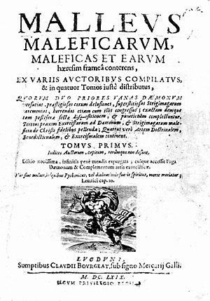 Christian demonology - Image: Malleus maleficarum, Lyon 1669, Titelseite