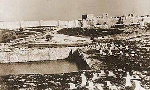 Mamilla Pool - Mamilla pool in Jerusalem (1854)
