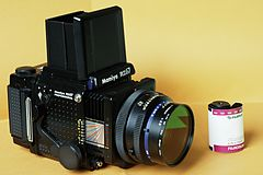 Mamiya RZ67 Professional and a Fujifilm color 120 format roll film (60 mm wide).jpg