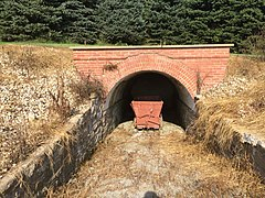 Mammoth coal mine entrance, now blocked. Mount Pleasant PA.jpg