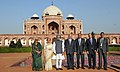 Manmohan Singh, the Prince Karim Aga Khan and the Union Minister for Culture, Smt. Chandresh Kumari Katoch visit the Humayun's Tomb for the ceremony to mark the completion of restoration work, in New Delhi.jpg