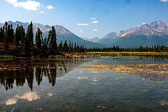 Mentasta Mountains - Image: Mantasta Mountains from Tok Cutoff