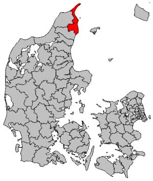 Frederikshavn Municipality - Image: Map DK Frederikshavn