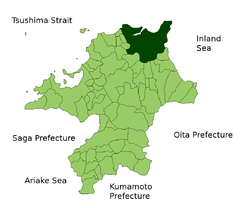 Kitakyushu is northern city in Kyushu.