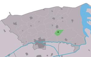 Jouswier - Image: Map NL Dongeradiel Jouswier