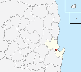 Location of Pohang